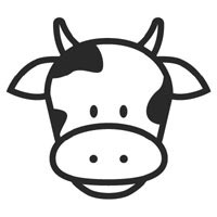 200x200 Cute Cow Face Clipart