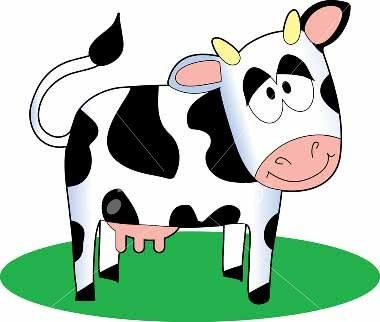 380x322 Animated Cow Clipart