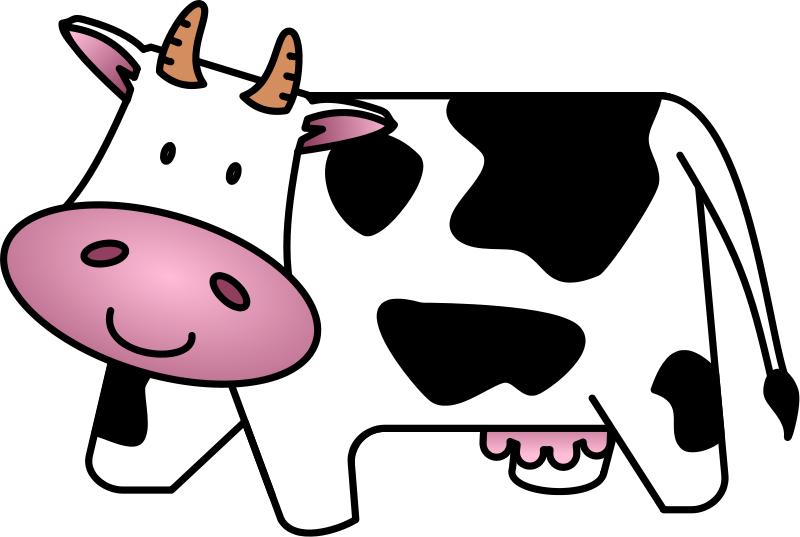 800x537 Free Cute Amp Friendly Cartoon Cow Clip Art