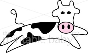 300x181 Jumping Cow Cartoon Clipart Barnyard Clipart