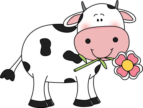 500x380 Open Clipart Cartoon Cow