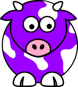 267x297 Purple Cow Clip Art