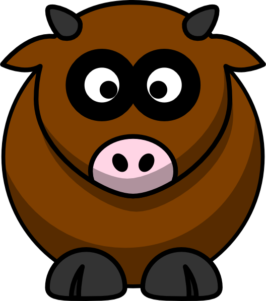528x598 Brown Cow Clip Art