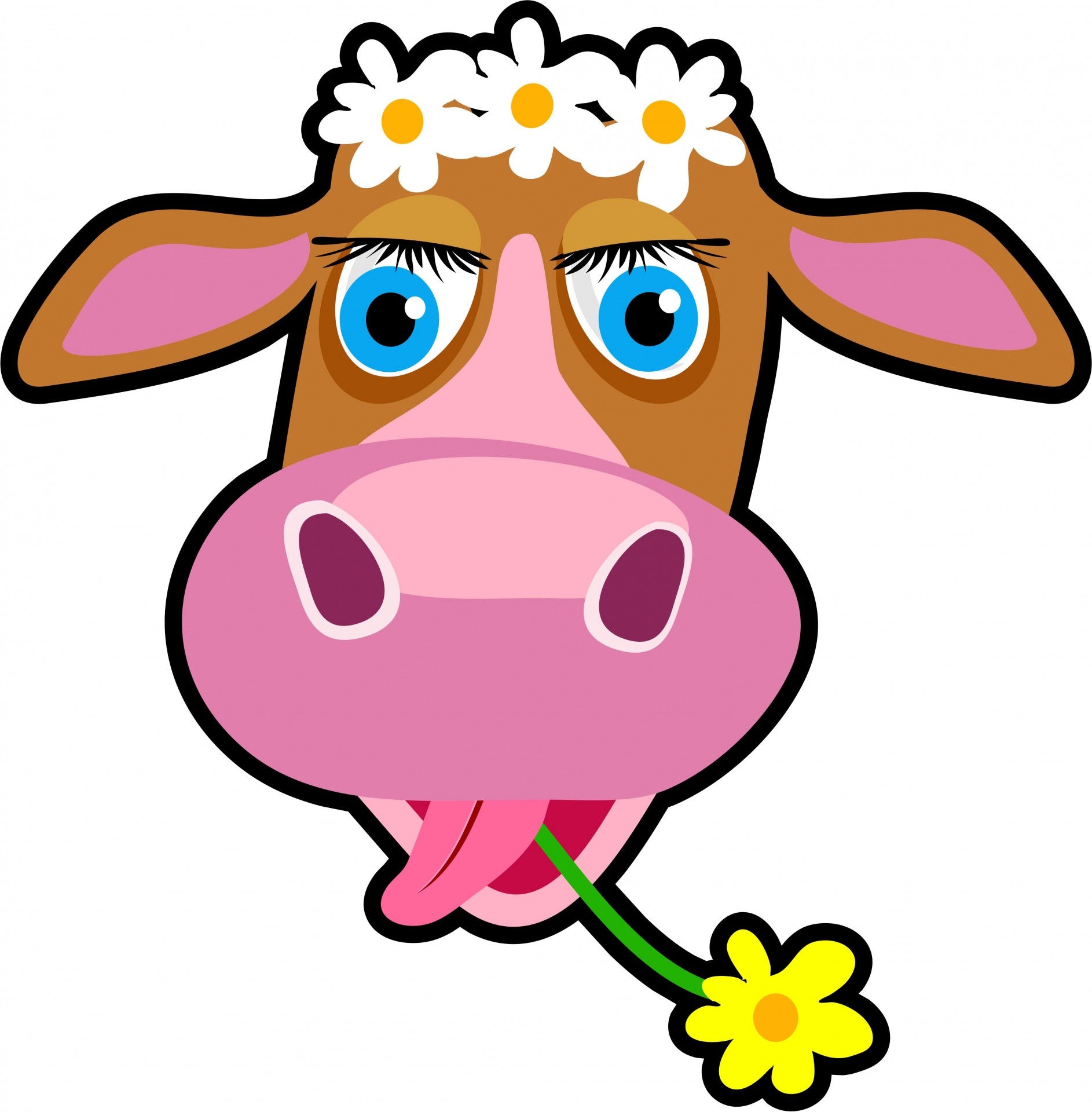 1886x1920 Cartoon Cow Clipart Free Stock Photo