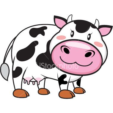 Cartoon Cow Face Clipart