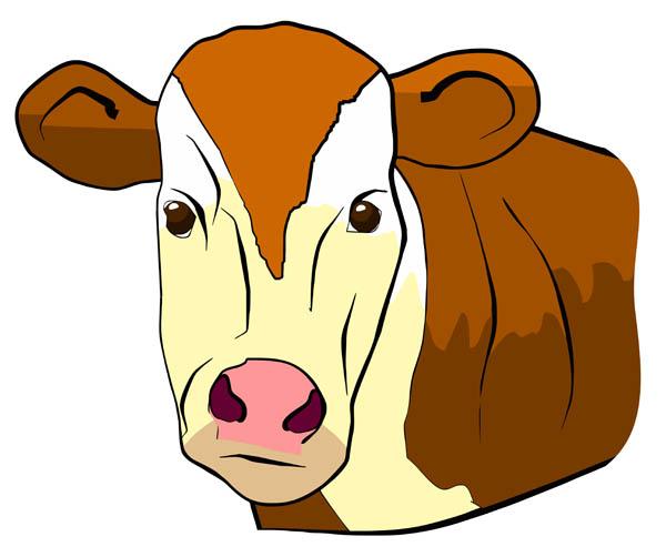 600x502 Cow Face Free Clip Art
