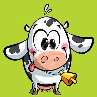 400x398 Cute Cow Face Clipart