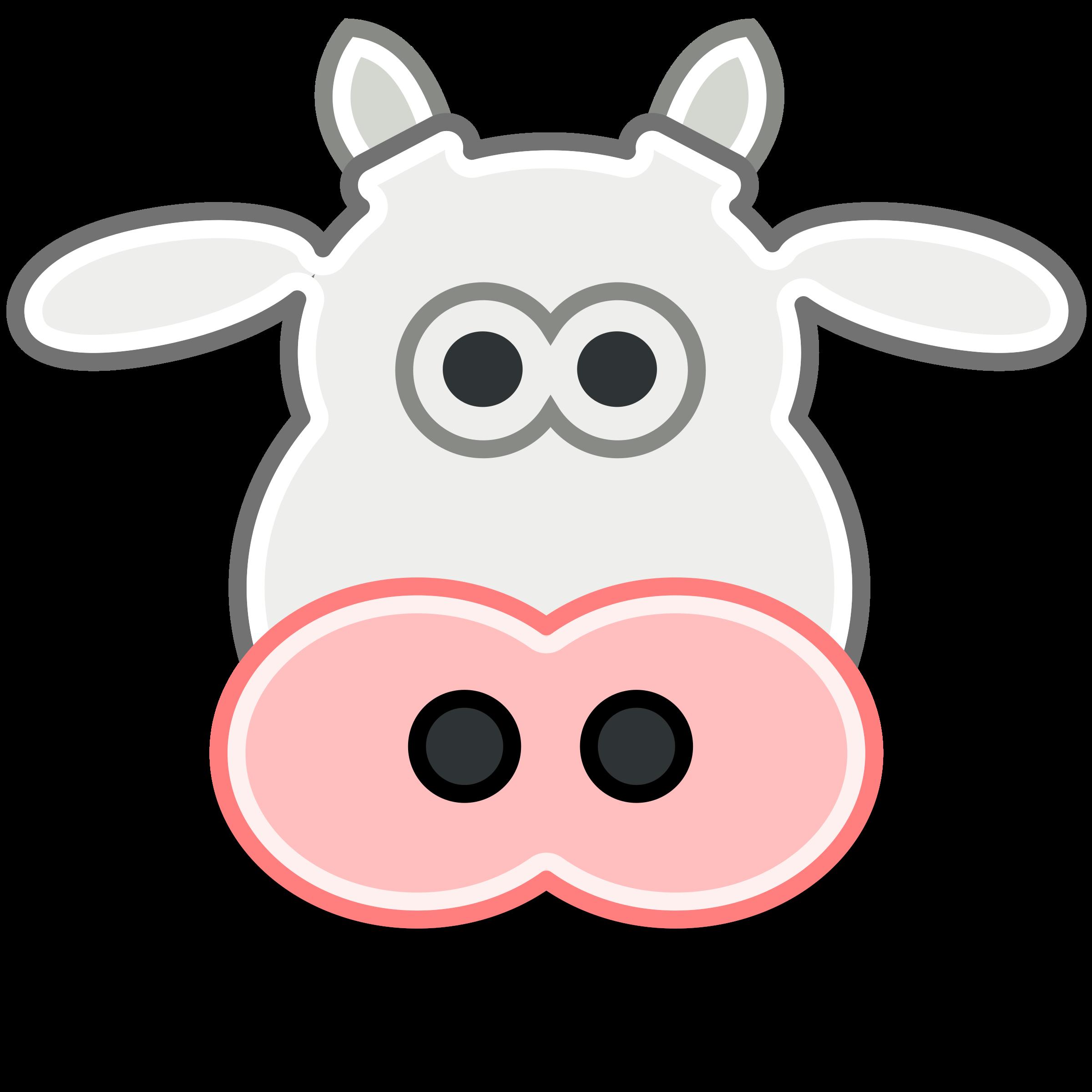 2400x2400 Herbivorous Clipart Cow Head