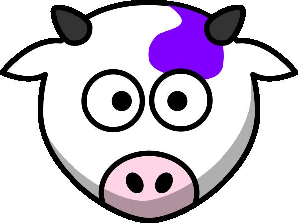600x448 Purple Cow Clip Art