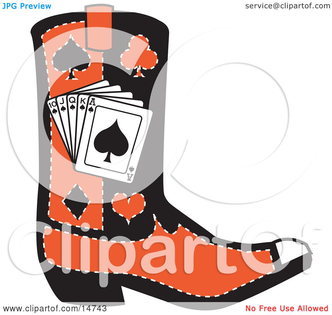 1080x1024 Clipart Of A Cartoon Cowboy Boots With Spurs