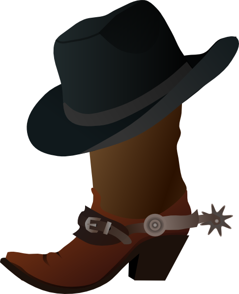 486x598 Cowboy Boot And Hat Clip Art