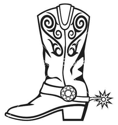 380x400 Cowboy Boot Silhouette Clip Art Cowboy boot vector western