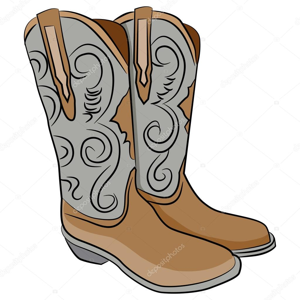 1024x1024 Cowboy Boots Cartoon — Stock Vector © cteconsulting