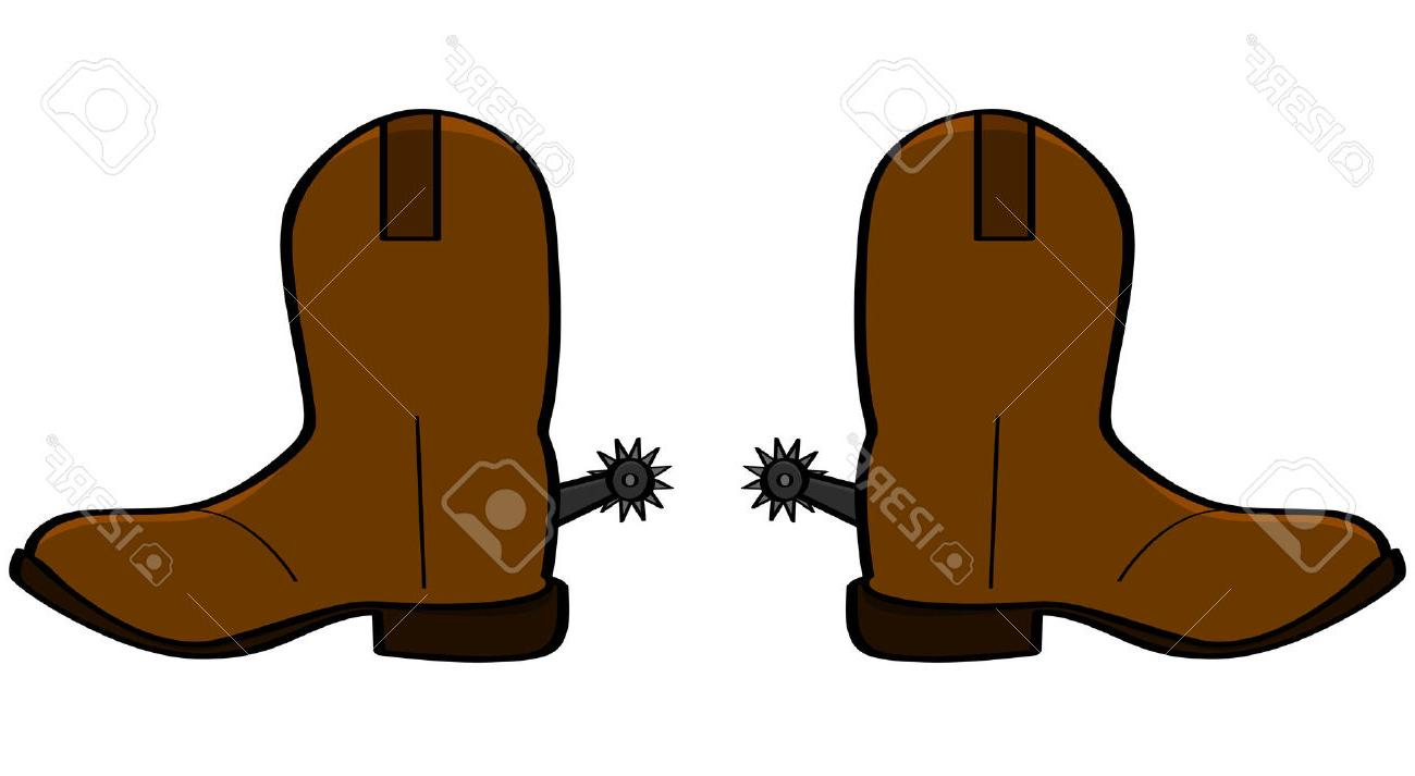 1300x713 Best 15 Cartoon Illustration Of Pair Leather Cowboy Boots Stock