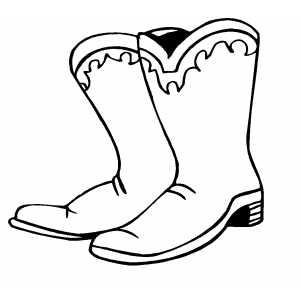 300x300 Cowboy Boots Clipart Black And White Free 7