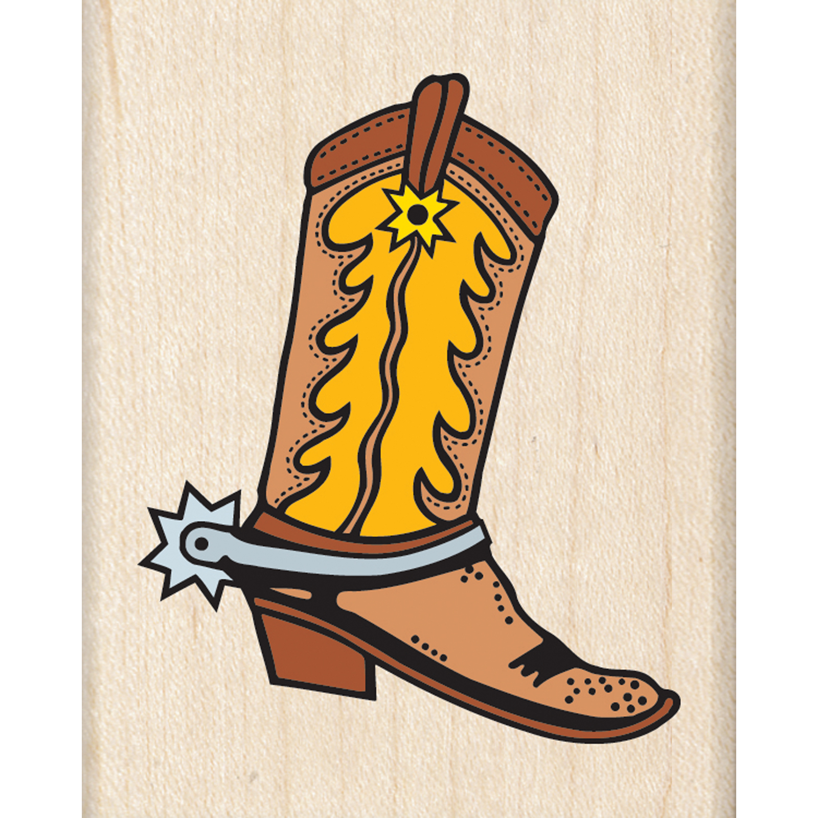 1600x1600 Find The Stamp, Cowboy Boot