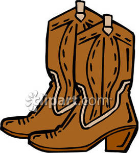 272x300 Pair Of Cowboy Boots Royalty Free Clipart Picture