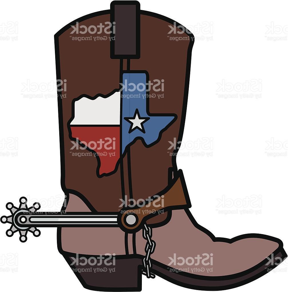 1007x1024 Top 10 Cowboy Boot Vector Art Texas Map Boots Spurs Cdr