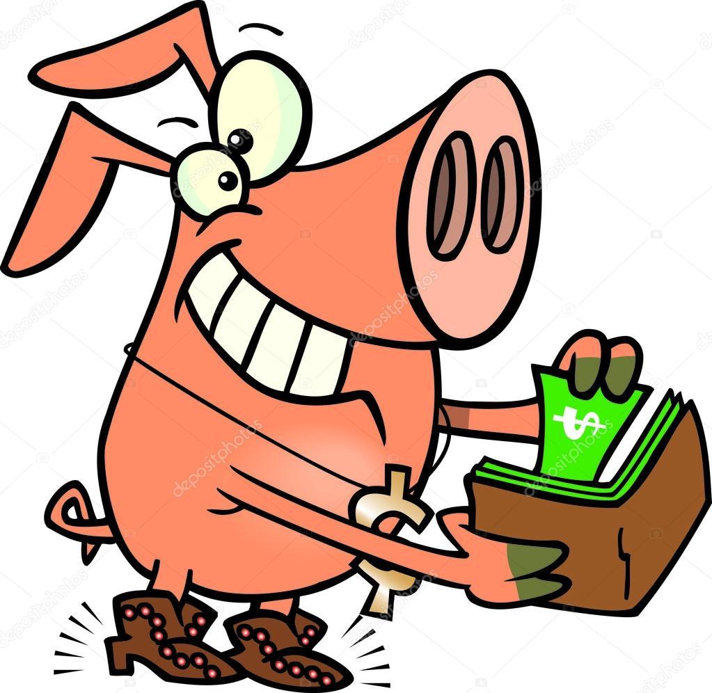 1023x996 Cartoon Rich Pig Stock Vector Ronleishman