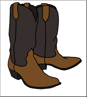 304x336 Clip Art Western Theme Cowboy Boots Color I Abcteach