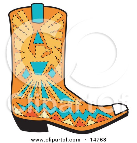 450x470 Clipart Of A Cartoon Cowboy Boots With Spurs