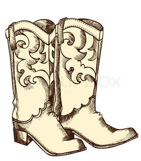 280x320 Cowboy Boots Stock Vector Colourbox