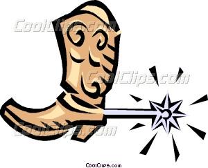 300x243 Cowboy Boots Vector Clip Art