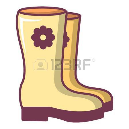 450x450 Boots Icon. Cartoon Illustration Of Boots Vector Icon For Web
