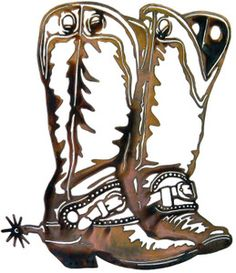 236x273 Boots With Spurs Clipart