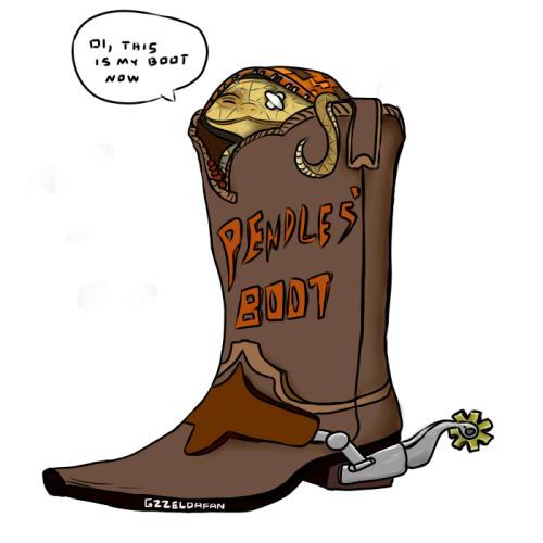 500x500 Cartoon Cowboy Boots Clipart