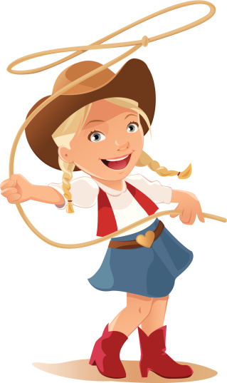 319x537 Cartoon Cowgirl Clipart
