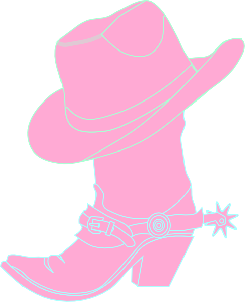 486x598 Cowgirl Hat And Boot Clip Art