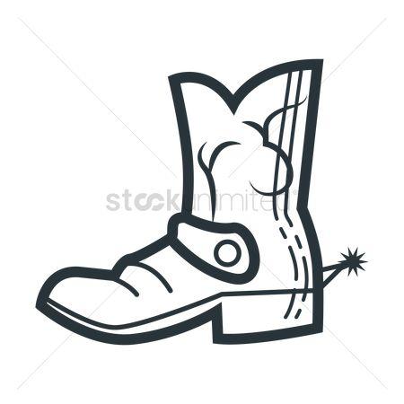 450x450 Free Cowboy Boots Stock Vectors StockUnlimited