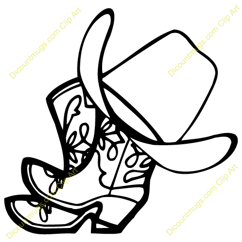 500x500 Western Clipart Cowgirl Boot