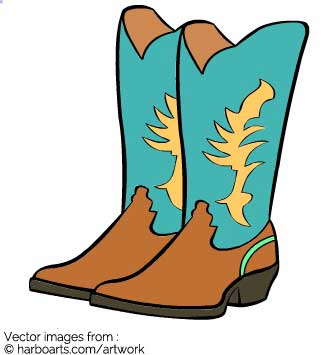 335x355 Cartoon Cowboy Boots Clipart