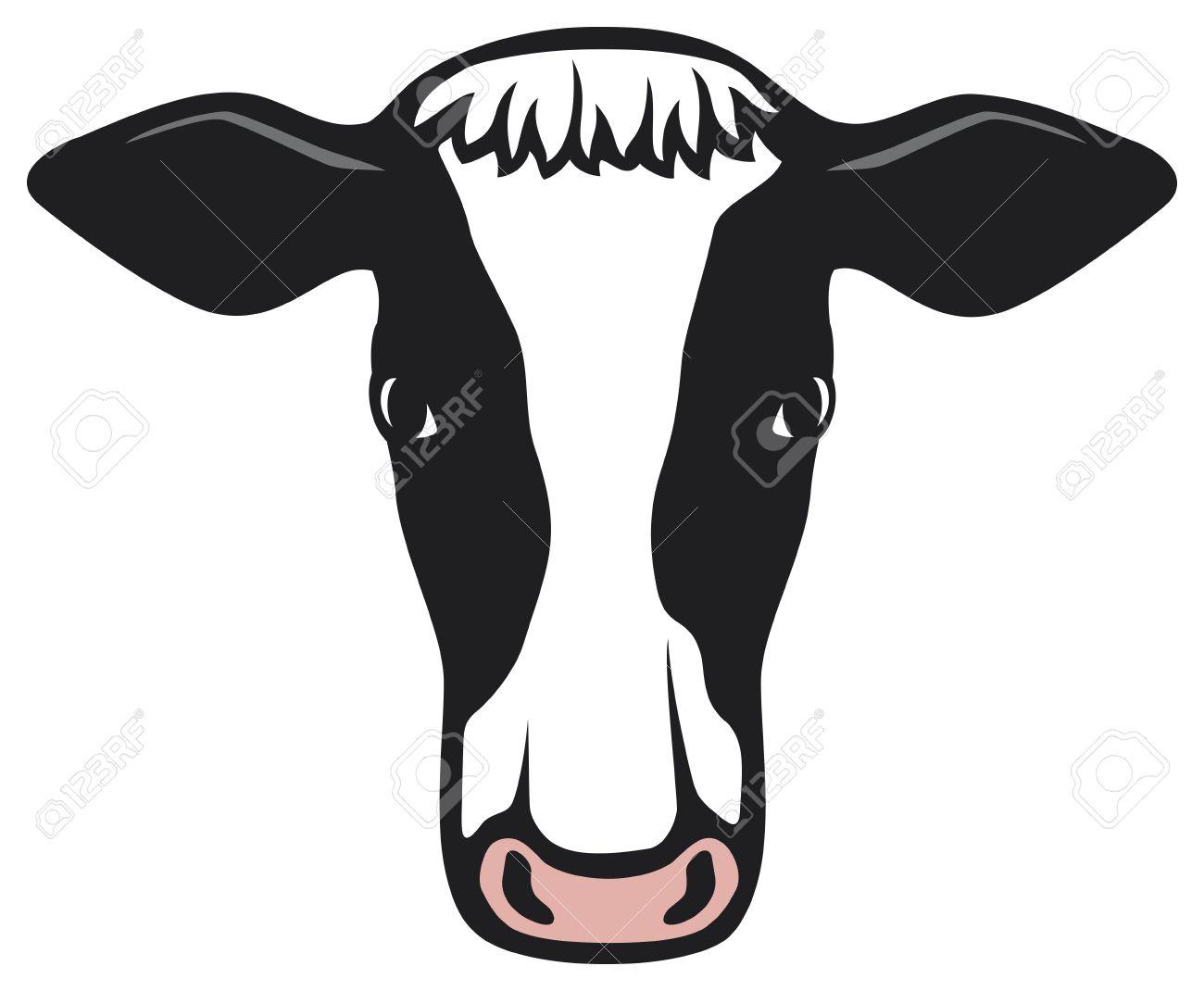 1300x1070 Cow Face Clip Art