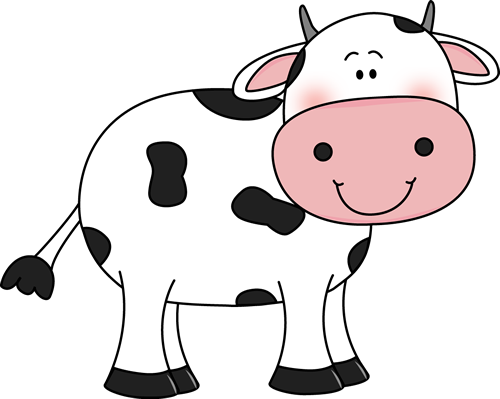 500x399 Line Art Clipart Cow