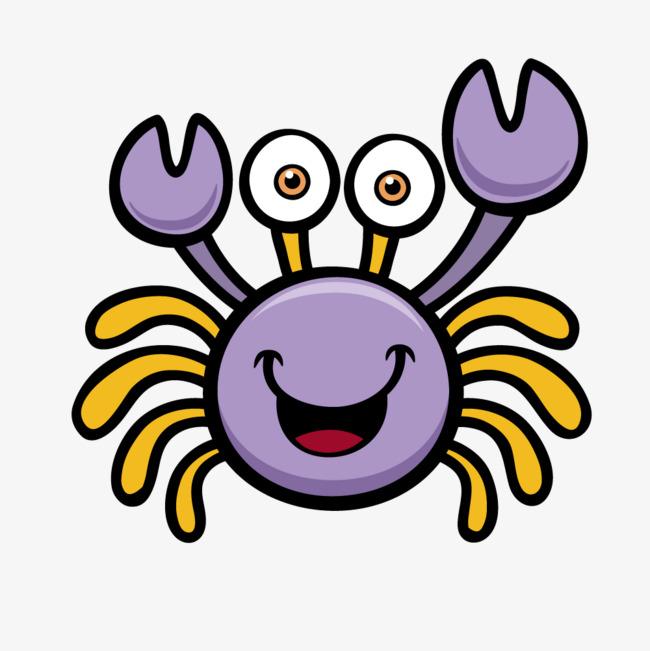 650x651 Purple Cartoon Crab Vector, Crab, Purple, Crab Vector Png Image