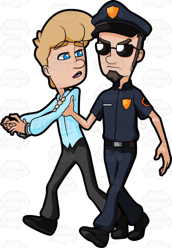 709x1024 Black Man Getting Arrested Clipart