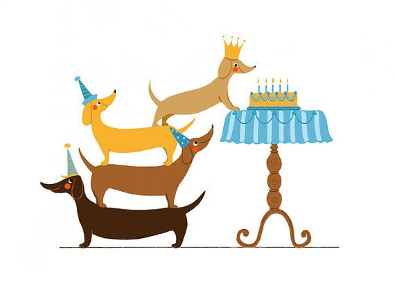 570x406 Dachshund Clipart Birthday