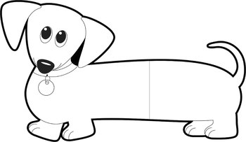 350x203 Dog Clip Art Dachshund Dog (Wiener Dog Sausage Dog) Tpt