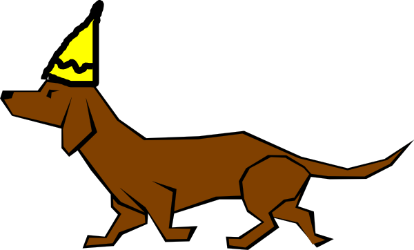600x362 Birthday Dachshund Clip Art
