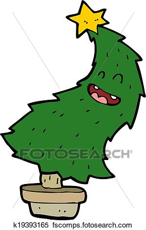 298x470 Clipart Of Cartoon Dancing Christmas Tree K19393165