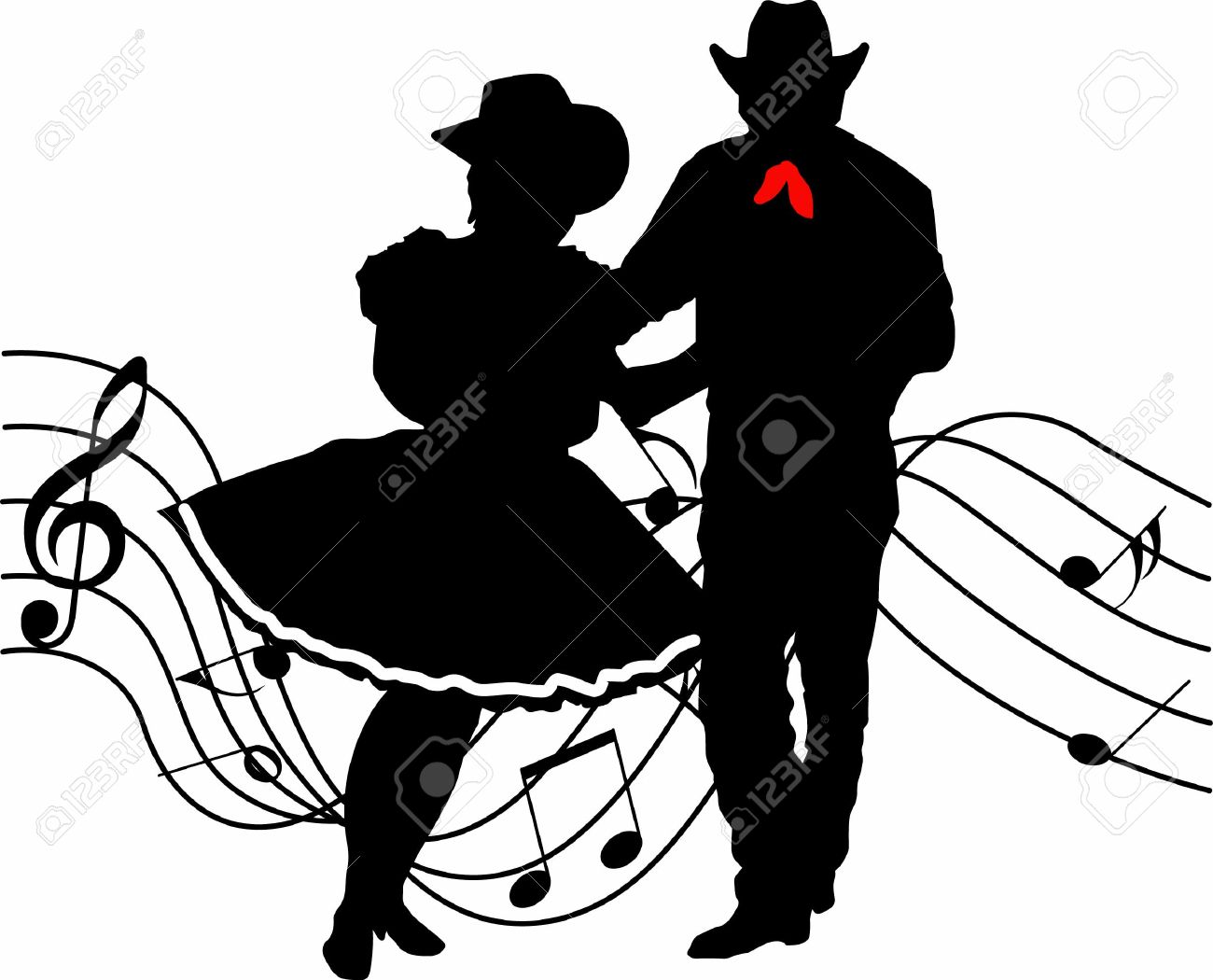 1300x1050 Country Western Dancers Clipart