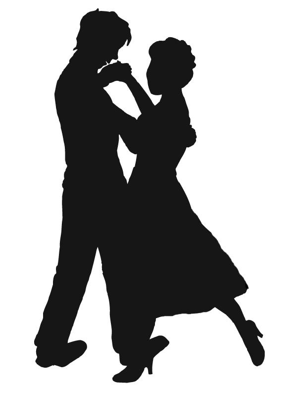 612x792 Cartoon Dancing Couple Clipart