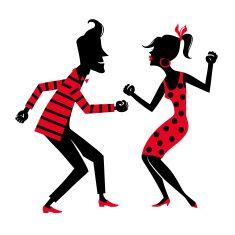 Cartoon Dancing People Clipart