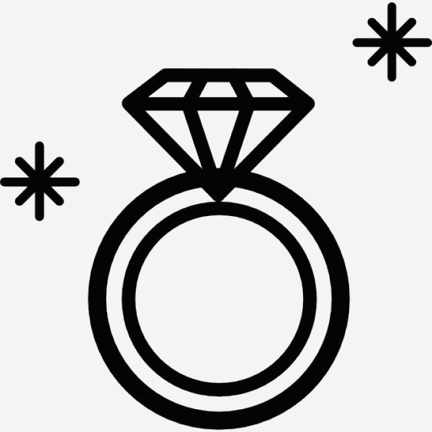626x626 Cartoon Diamond Ring Awesome Diamond Ring Jewel Outline From Top