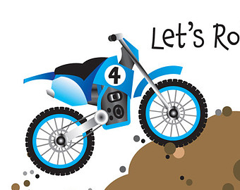 340x270 Dirt Bike Birthday Party Invitation And Thank You Card Baby Boy
