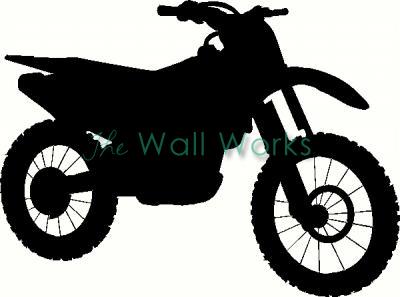 400x297 Dirt Bike Wall Sticker, Vinyl Decal The Wall Works