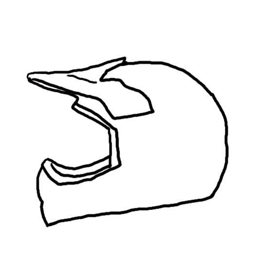 520x564 Drawn Motorcycle Dirt Bike Helmet